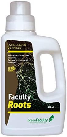 GreenFaculty Enraizante para esquejes. Faculty Roots: ESTIMULADOR RAICES ECOLÓGICO Marihuana Cannabis líquido 500 mL. Cero Residuos, Apto para Cannabis Medicinal. Fertilizante Abono para esquejes.