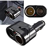 Dual Car Cigarette Lighter Socket Adapter Power Splitter Charger 12V 24V