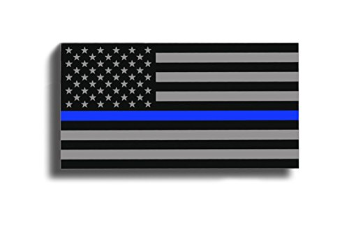 BLUE LINE American Flag Subdued Sticker Decal Lives Matter - Support Police USA Merica by 215 Decals, Graphics, Skins & Stickers