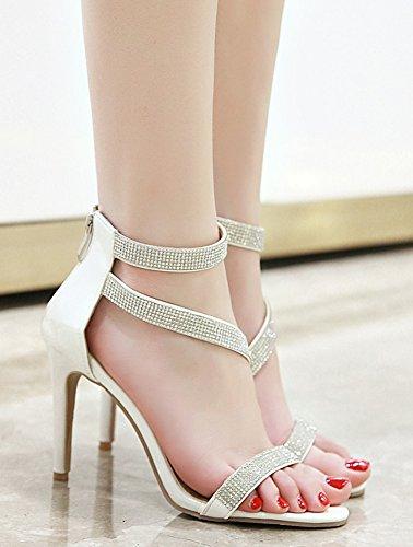 Haut Blanc Aisun Soirée Sandales Aiguille Sexy Talon Strass à Princesse Femme FwxXBvwq4