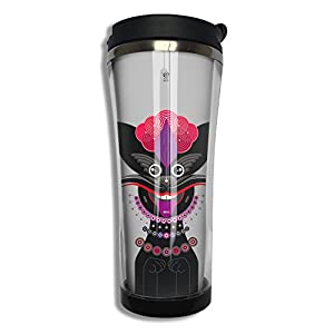 EQQ Little Dragon Flip Top Lid Double Wall Stainless Steel Cup Hot Cold Tumbler With Liquid Tight Coffee Mug Vacuum Insulated Tumbler Drink Bottle