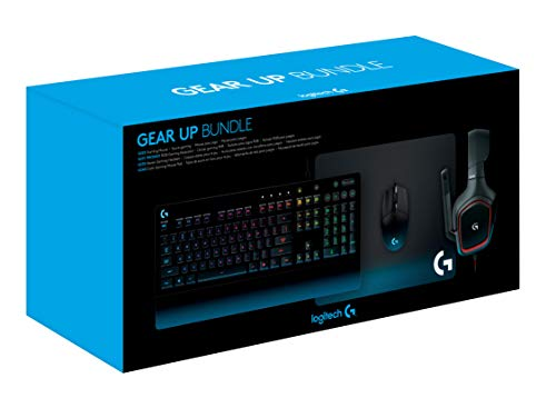 4a2f99d537c ... Logitech G Gear UP Gaming Bundle Gaming Grade Mouse, Keyboard, Stereo  Headset Mouse Pad ...
