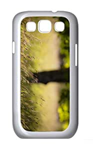 cover grass late summer PC White case/cover for Samsung Galaxy S3 I9300
