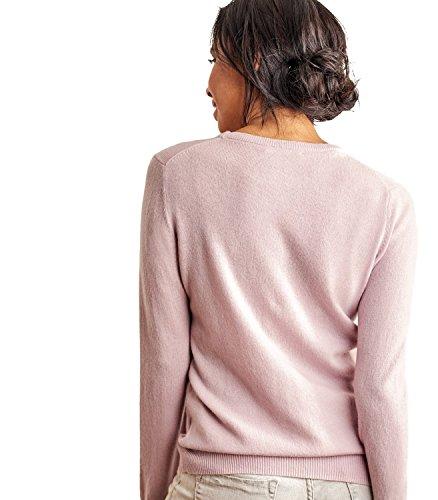 WoolOvers Pull à col rond - Femme - Cachemire & Mérinos Dusky Pink, M