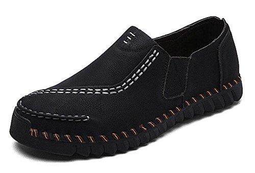 SHIXR Nouveau printemps sauvages chaussures de sport pour hommes la vie quotidienne des britanniques de chaussures de jeunes urbains chaussures de sport chaussures bateau , black , 44