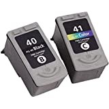J2INK 2 Pack High Yield Ink Cartridge Replacement for PG 40 CL 41 PG-40 CL-41 For Pixma MP160 MP140 MP180