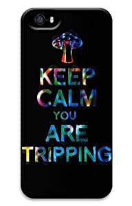 Keep Calm And Are Triping Cover Case Skin for iPhone 5 5S Hard PC 3D