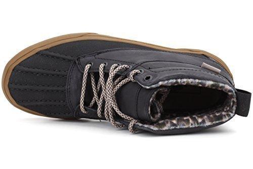 Vans Men's Sk8 Hi Del Pato MTE Skate Shoes (9 B(M) US Women/7.5 D(M) US Men, Black/Feather/Gum)