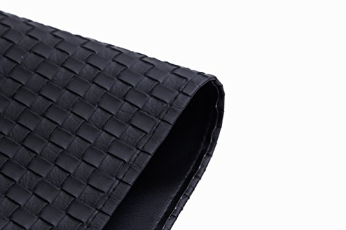 Black leather table mat