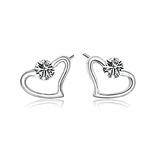 [The November Nocturne Honey Love Symbol Hollow out Heart Shape Silver Plated Diamond Studded] (Romantic Time Period Costumes)