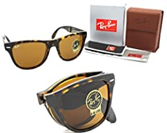 New Authentic RAY-BAN Sunglasses RB 4105 710 54mm Ray-Ban FOLDING WAYFARER Sunglasses LIGHT HAVANA FRAME WITH BROWN B-15 SIZE 54mm Made In : ITALY Frame~Color: LIGHT HAVANA Brand : Ray Ban Gender : Unisex Style : FOLDING WAYFARER Condition : ...
