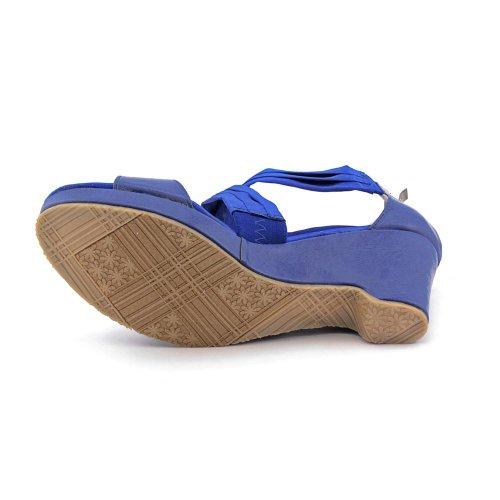 Beacon Blue Compensées Criss Sandales Aana Femmes Z7q7xw0BP