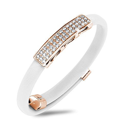 "Alaxy ""Galaxy Memory"" Bangle Bracelet Made with Swarovski Crystal (White)"