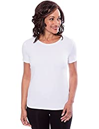 Women's Short Sleeve T-Shirt - Bamboo Viscose Top by Texere (Spring Zing)
