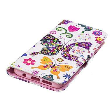 Casos hermosos, cubiertas, Para la galaxia s8 s8 samsung más la cubierta del caso patrón de mariposa del color de la PU material tarjeta sten la caja del teléfono ( Modelos Compatibles : Galaxy S6 Edg Galaxy S6