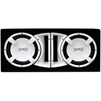 Absolute USA FBD12WI 3000 Watts Bass Box Dual 12-Inch Subwoofer Enclosure Box (White)