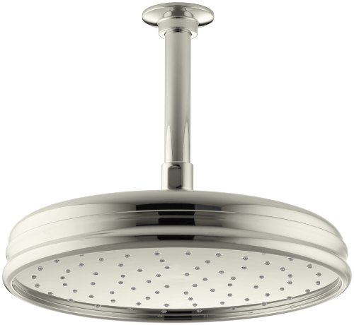 KOHLER K-13693-SN 10-Inch Traditional Round Rain Showerhead, Vibrant Polished Nickel
