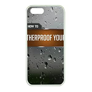 iPhone 5 Great for designing your own rubble white case,Designed Specifically Compatible with Gun Cleaning Tips