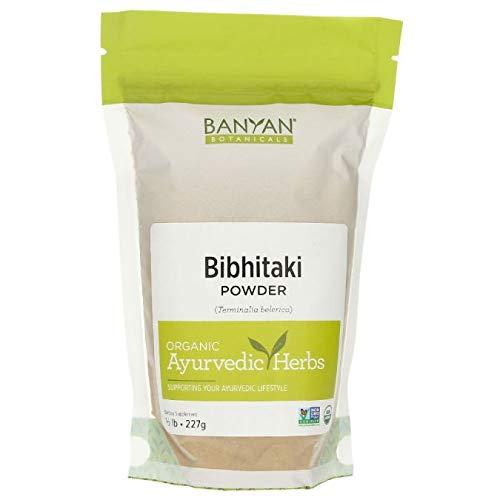 Banyan Botanicals Bibhitaki Powder - Certified Organic, 1/2 Pound - Terminalia belerica - Detoxification and rejuvenation for kapha*