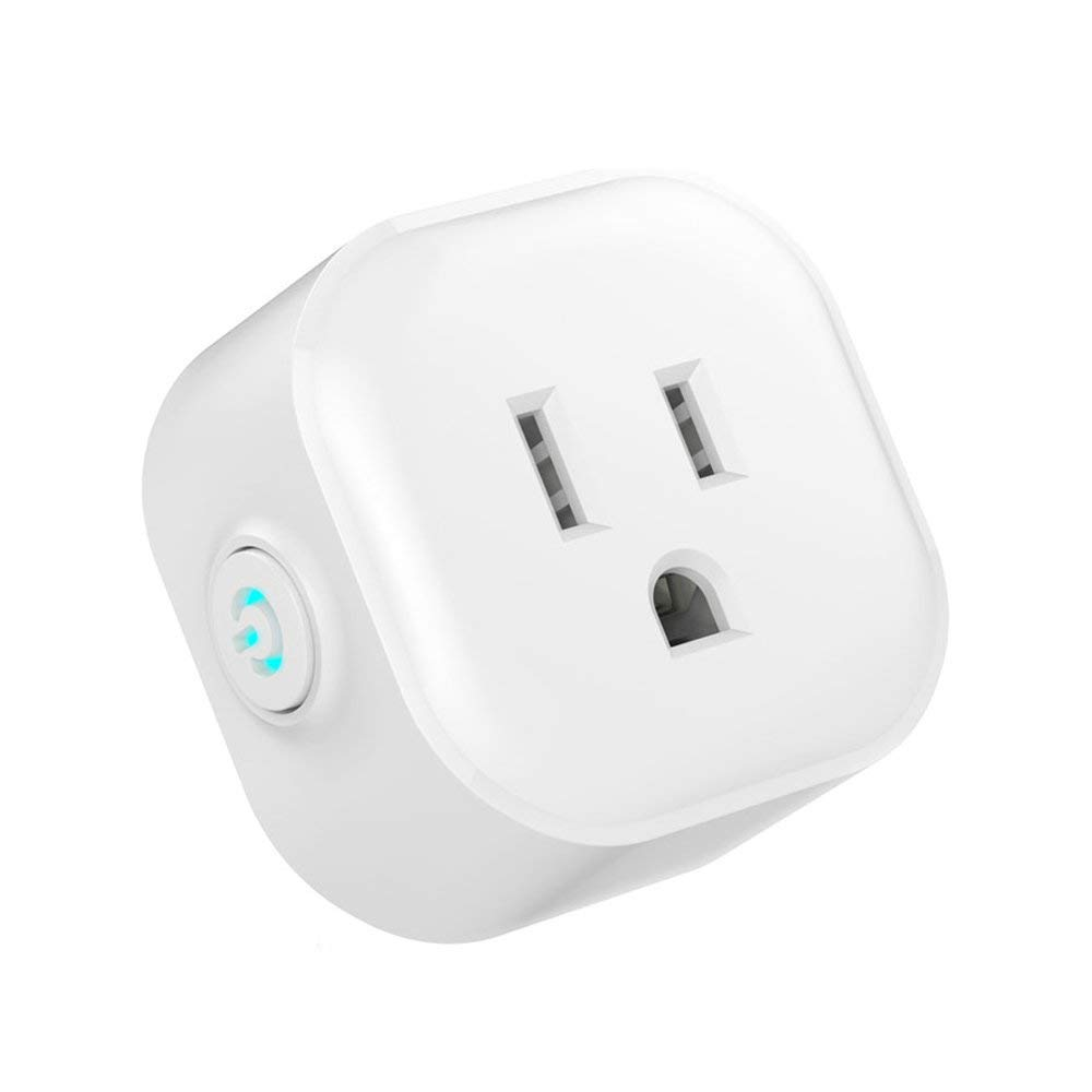 Wifi Smart Plug Compatible with Alexa & Google Assistant, Wireless Mini Smart Switch Outlet Socket, Remote Control Your Devices Anywhere, Voice Control with Echo & Google Home, IFTTT, No Hub Required