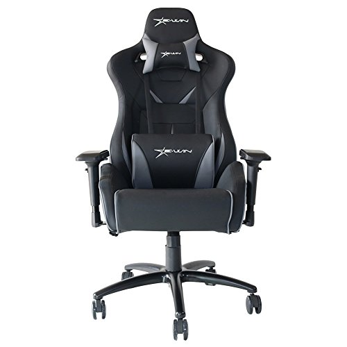 [Large Size]High Back Gaming Chair Computer Chair 4D Armrest With Headrest and Lumbar Support, Ergonomic Designs and Adjustable Armrest Computer Office Chair, Extremely Durable PU Leather Steel Frame