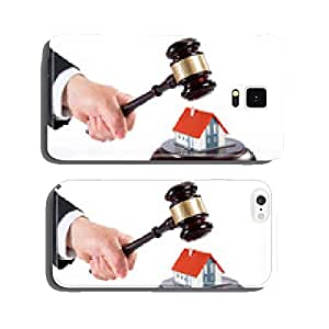 gavel on house - auction of real estate cell phone cover case Samsung S6