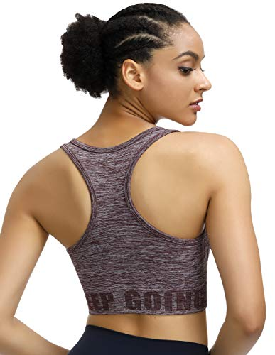 Disbest Yoga-beha, sterke ondersteuning, fitness, training, stretchbeha, bustier, push-up top, sportbeha, zonder beugel…