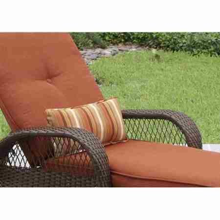 Better Homes and Gardens.. Durable Steel Frame Chaise Lounge (Orange)