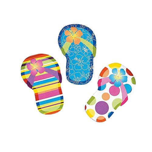 Notepad Summer (Flip Flop Sticky Notes (2 Dozen) | Summer Office Supply & Party Favor Item)