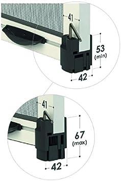 Rebobinado Mosquitera para ventanas y puertas ventana de expansión ...