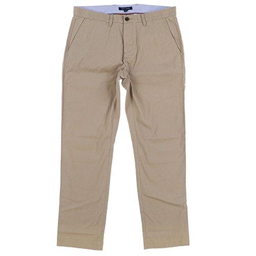 (Tommy Hilfiger Mens Custom Fit Chino Pants (Dark Khaki,)