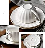 Yesland 6 Set Royal Tea Cups and Saucers with