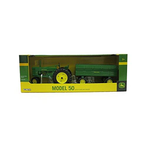 John Deere 50 Tractor with Flarebox Wagon (1:16 Scale)