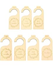 7pcs Baby Closet Divider, Wooden Baby Closet Size Organizers Hanging Closet Dividers from Newborn Infant to 24 Months for Home Nursery Baby Clothes, Timeless Etched Design