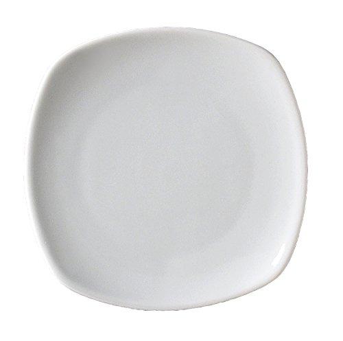 Vertex China AV-9 Ventana Coupe Square Plate, 9-5/8'', Porcelain White (Pack of 24)