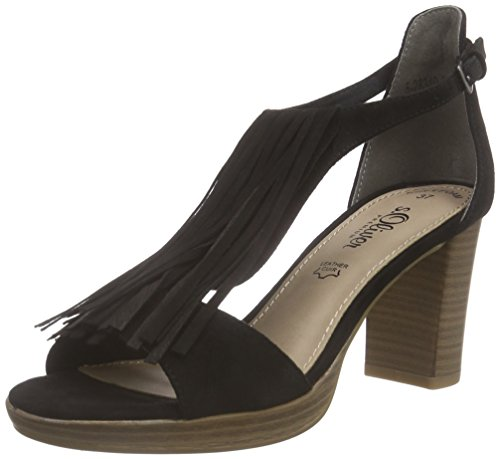 Schwarz Sandals s Oliver Black T 28340 Black 001 Bar Women's 0TRq06Fx