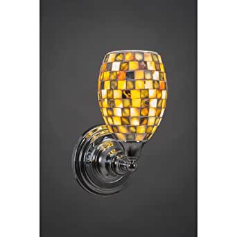 """11"""" One Light Wall Sconce with Seashell Glass in Chrome"""