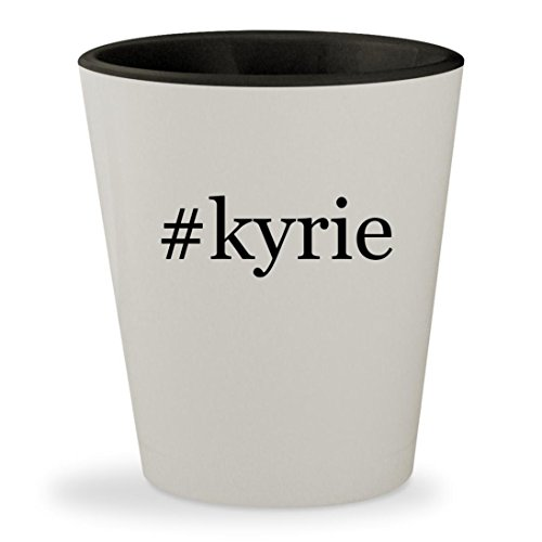 Price comparison product image #kyrie - Hashtag White Outer & Black Inner Ceramic 1.5oz Shot Glass