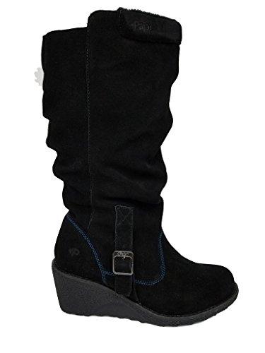 Valerie Platform Shoes - Pajar Women's Valerie Leather Winter Water-Resistant Boot, Black, 38 M EU