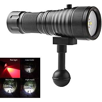 Portable Xm L2 100m Underwater Flashlights Professional Scuba Diving Flashlight Built-in Battery Waterproof Torch Lampe Torche Terrific Value Led Flashlights
