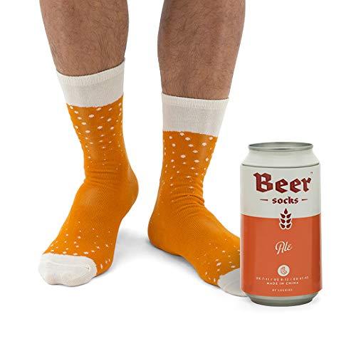 (Novelty Beer Socks - Colorful Socks For Men, Made From Soft Cotton Nylon - Funny Socks For Men, Crazy Socks in Beer Can, Orange Ale, 41-45 EU (7-11 UK/ 8-12 US))