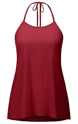 Sweatshirt Camicie Unita Estivi Schienale Halterneck Top Bluse Tops Sexy Blusa Senza shirt Canotte Donna Camicetta T Casual Tinta Jumper SAAqCwRU