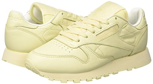 Pastels Amarillo Sneakers white Reebok Yellow Cl Mujer Para Lthr washed UnqwfEpw