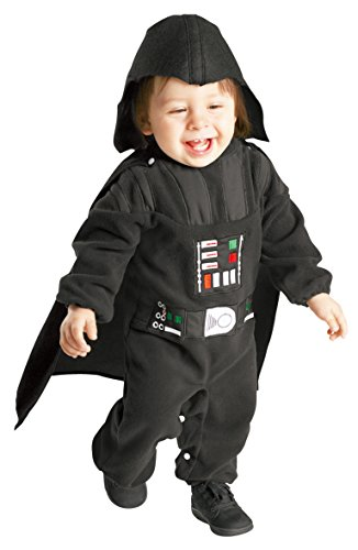 Parent And Baby Halloween Costumes (Rubie's Costume Star Wars Darth Vader Romper, Black, 12-24 Months)