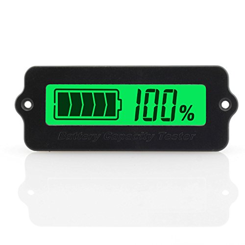 ToToT LY6W Battery Capacity Tester Monitor Universal Voltage-Type LCD Digital Display Power Module Indicator For 12V 24V 36V 48V Lead Acid Battery 3-15cells Lithium-Ion Battery Green Light
