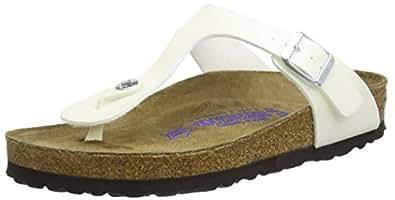 Birkenstock Gizeh Regular Fit - Magic Galaxy White 847471 (Man-Made) Womens Sandals 36 EU