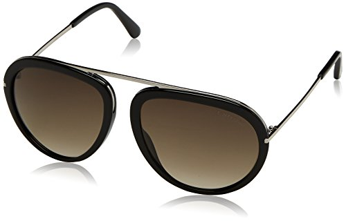 Tom Ford Sunglasses TF 452 Stacy Sunglasses 01K Black Metal - Ford Sunglasses Aviator Women Tom