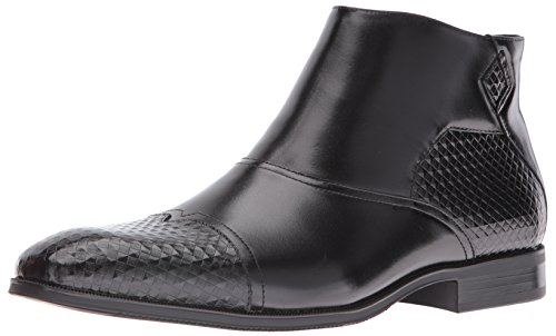 Stacy Adams Mens De Faramond Gewijzigd Cap Teen Chelsea Boot Zwart