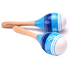 Botanmu 2PCS Baby Kid Educational Maracas Toys Gift 20CM Blue 10