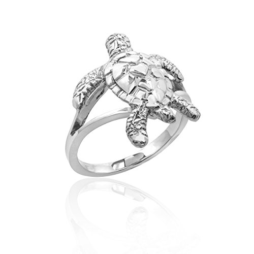 Sterling Silver Turtle Honu Ring ()